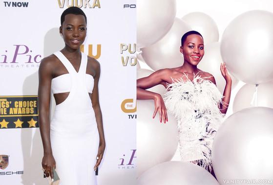 Lupita Nyong'o, Vanity Fair, Photoshop