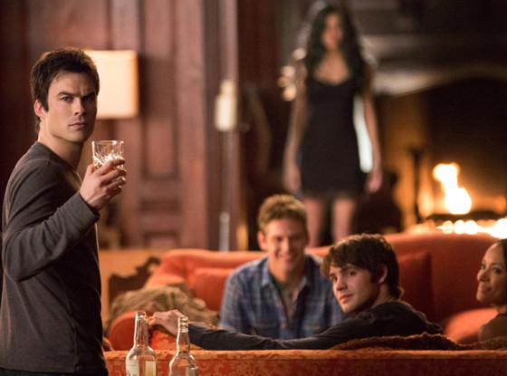 The Vampire Diaries, Ian Somerhalder, Zach Roerig, Nina Dobrev, Steven R. McQueen