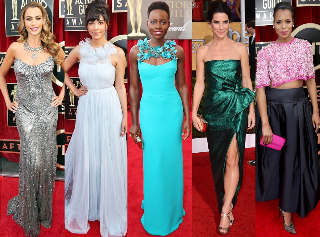 Best Dressed, Sofia Vergara, Hannah, Simone, Lupita Nyong'o, Sandra Bullock, Kerry Washington, SAG Awards