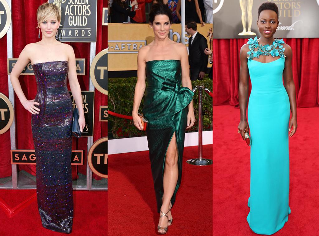 Jennifer Lawence, Sandra Bullock, Lupita Nyong'o, SAG Awards