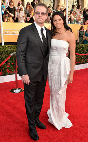 Matt Damon, Luciana Barroso, SAG Awards
