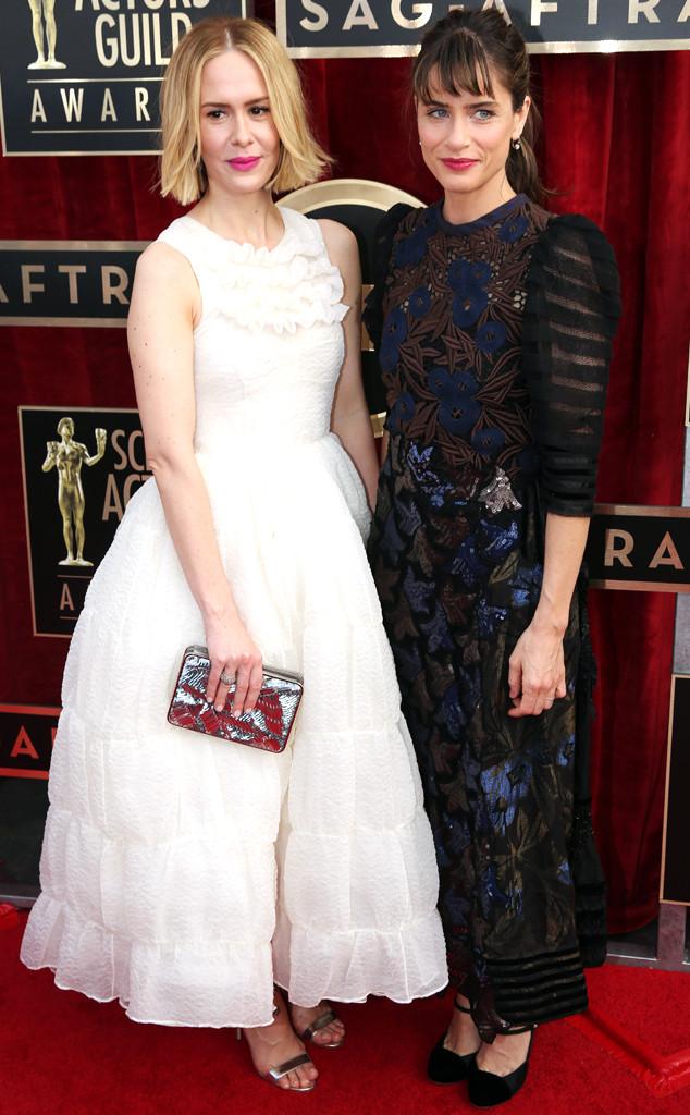 Sarah Paulson, Amanda Peet, SAG Awards