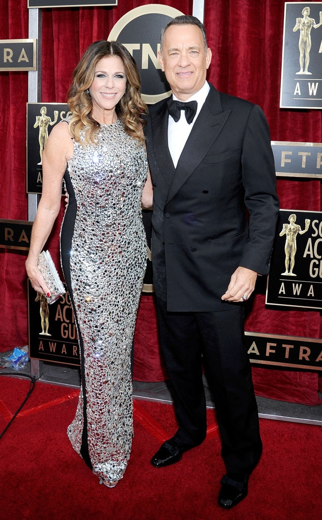Rita Wilson, Tom Hanks, 2014 SAG Awards