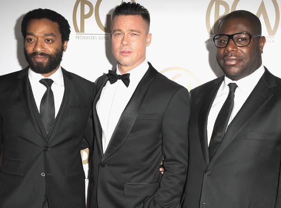 Chiwetel Ejiofor, Brad Pitt, Steve McQueen
