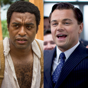 The Wolf of Wall Street, Leonardo DiCaprio, Chiwetel Ejiofor, 12 Years a Slave