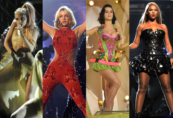 Grammy Performance Costumes: Lady Gaga, Britney Spears, Katy Perry, Beyonce