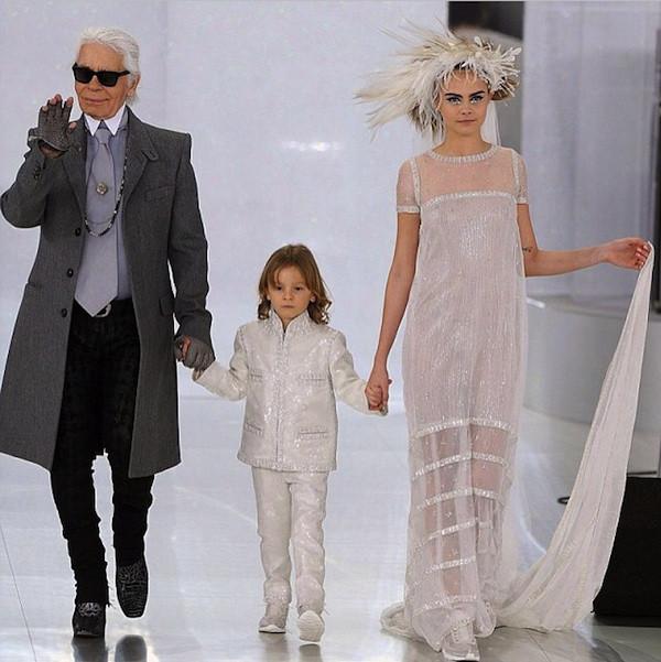 Cara Delevingne Chanel alta Costura 2014