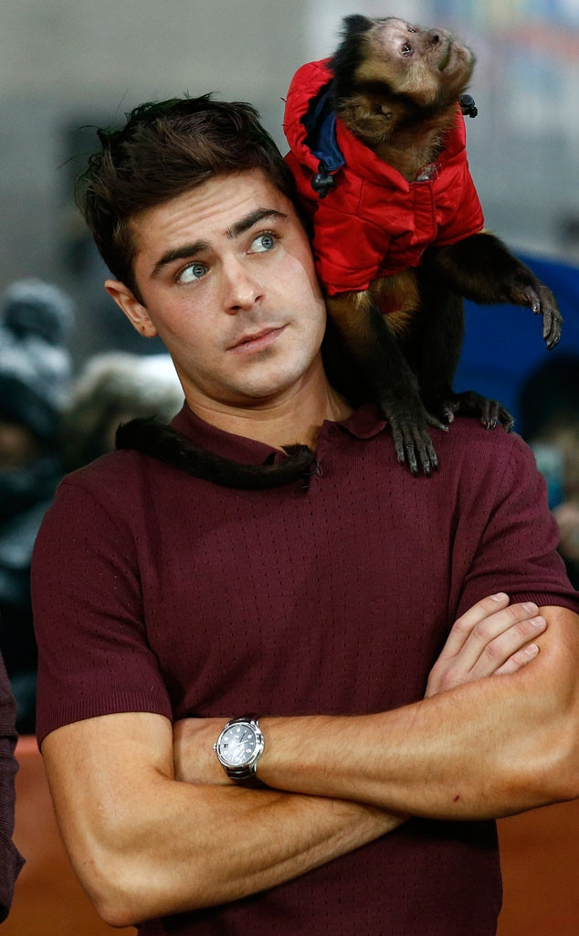 Zac Efron and a Monkey...