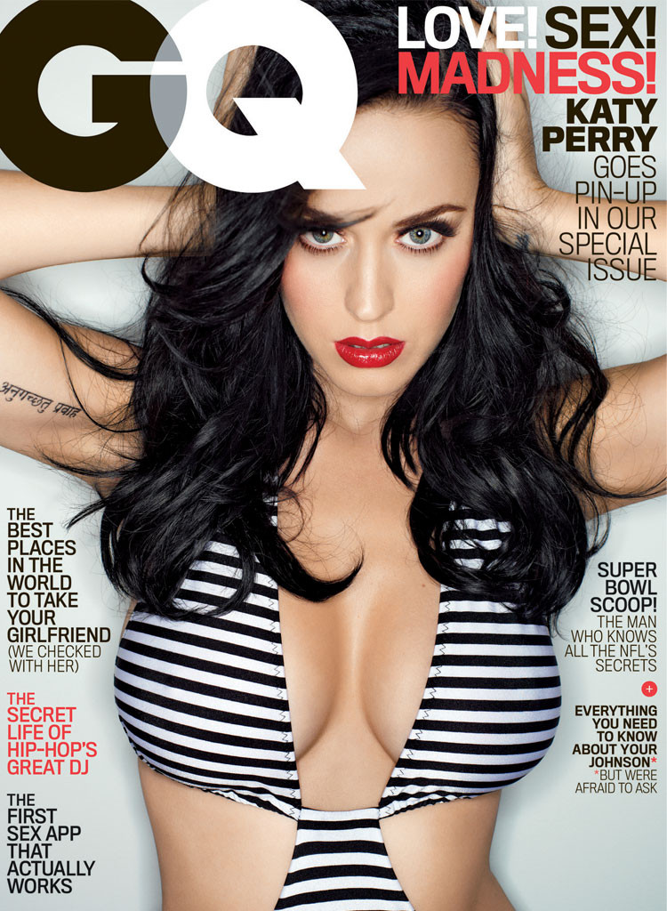 Katy Perry Shows Major Cleavage on GQ Cover, Reveals She Prayed for Big Boobs as a Kid