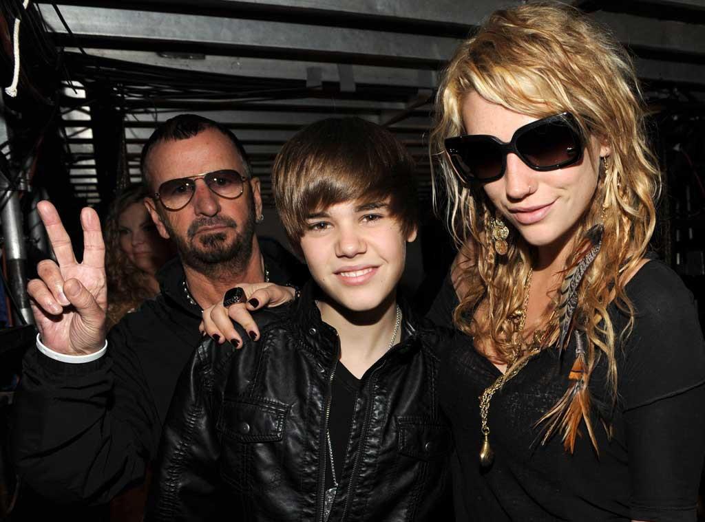 Ringo Starr, Justin Bieber, Ke$ha, Kesha, Photobomb