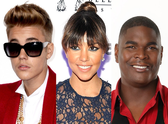 Kourtney Kardashian, Keyshawn Johnson, Justin Bieber
