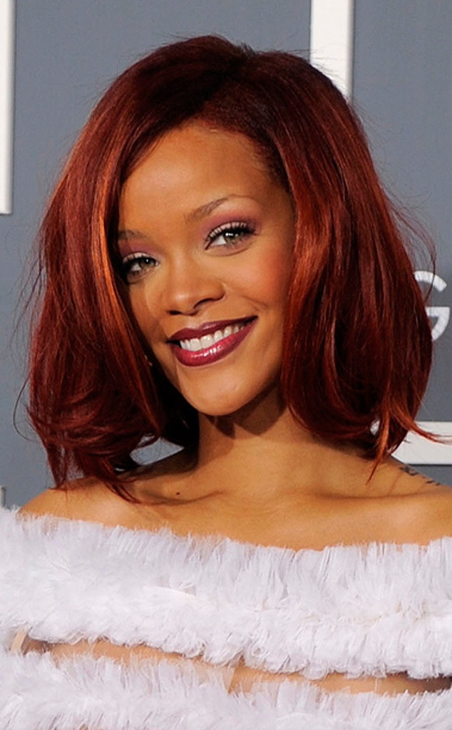 Rihanna 2011 Grammys from Seeing Red: E! Style Collective's Top Red Carpet Moments | E! News