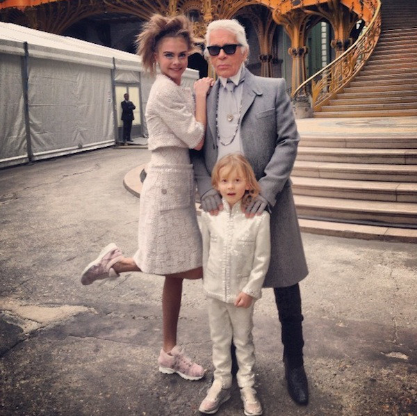Cara Delevingne, Karl Lagerfeld, Chanel