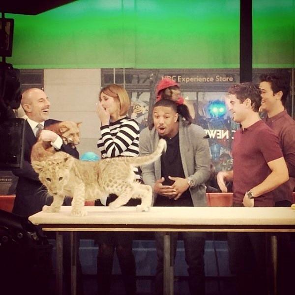 Zac Efron, Michael B. Jordan, Miles Teller, Today Show, Instagram