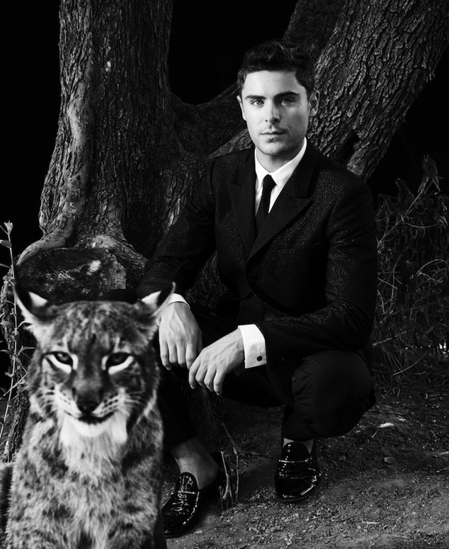 Zac Efron, Blackbook, Animals