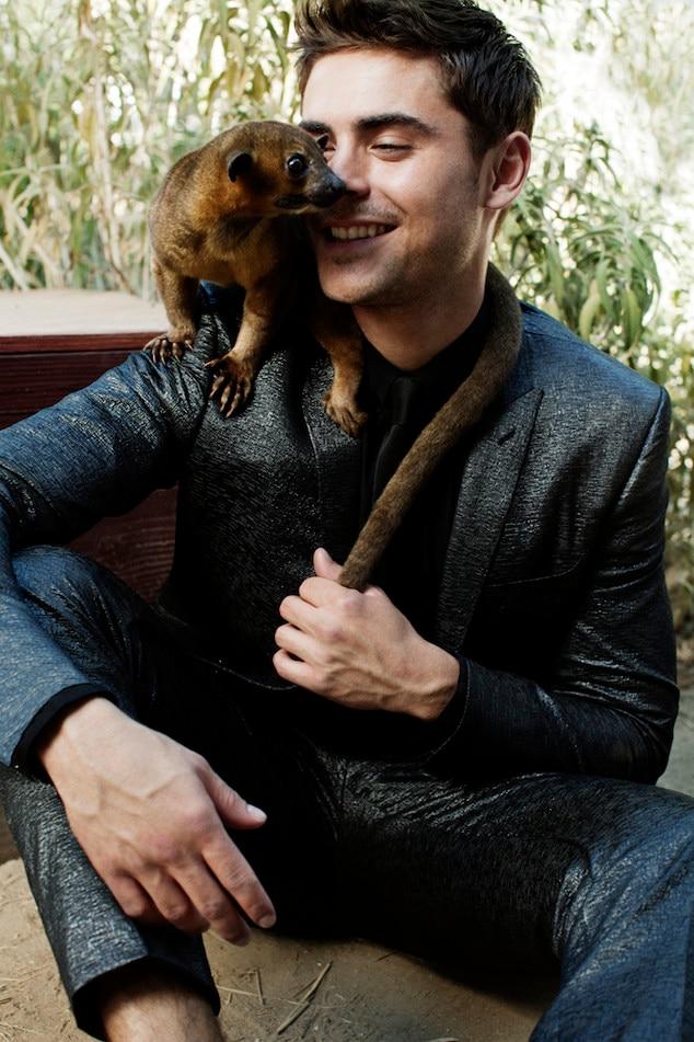 Zac Efron, Blackbook, Animals