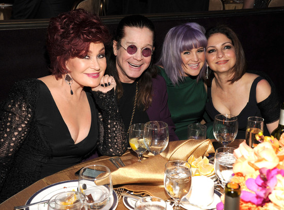 Sharon Osbourne, Ozzy Osbourne, Kelly Osbourne and Gloria Estefan