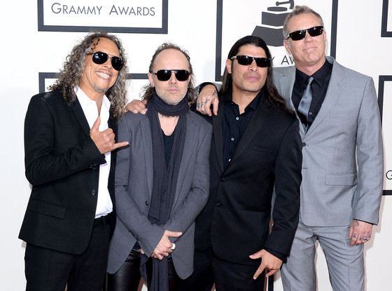 Kirk Hammett, Lars Ulrich, Robert Trujillo, James Hetfield, Metallica, Grammys
