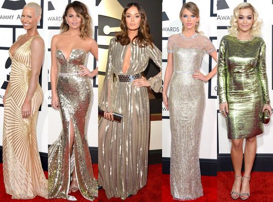 Grammys Glittery Gowns
