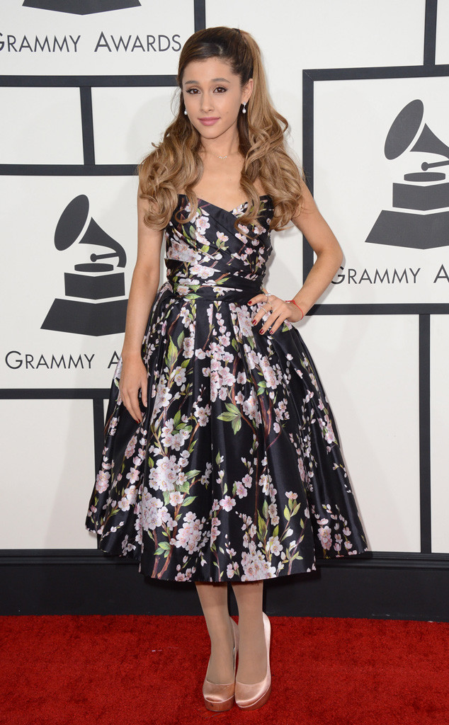 9+ Grammys Ariana Grande Red Dress