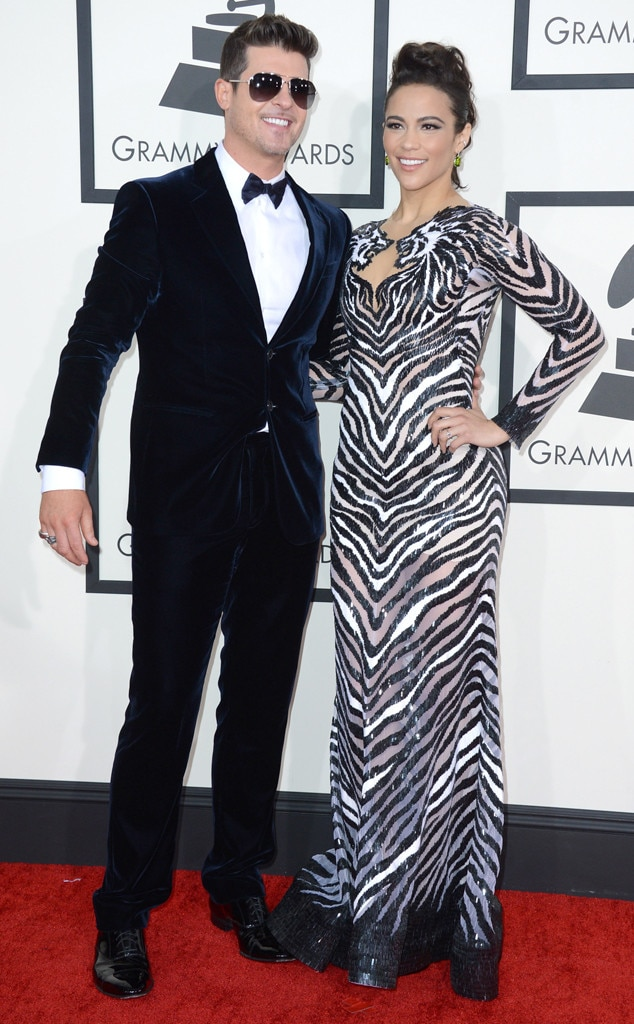 Robin Thicke, Paula Patton, GRAMMYS 2014