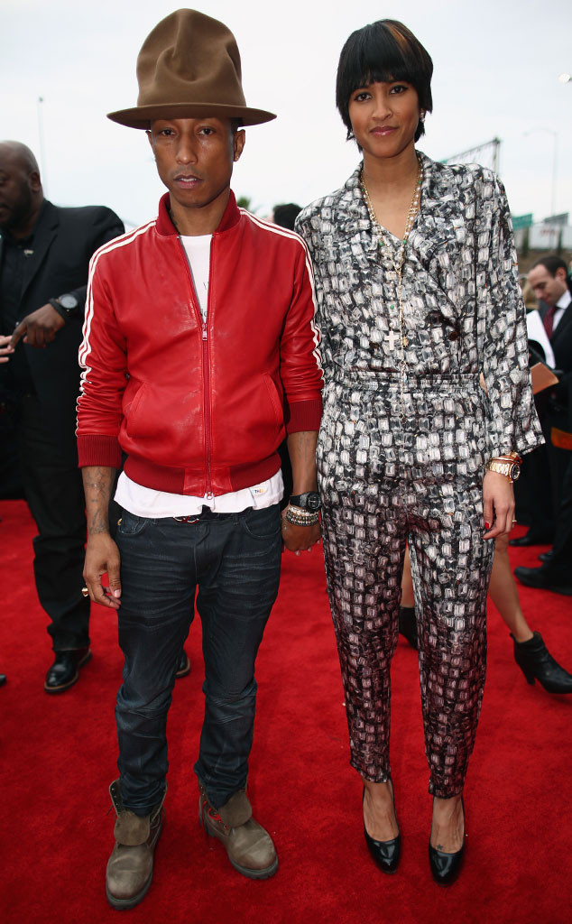 Pharrell Williams, Helen Lasichanh, Grammys Couples
