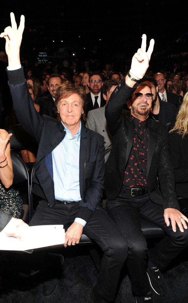 Paul McCartney, Ringo Starr, Grammy's, Candids