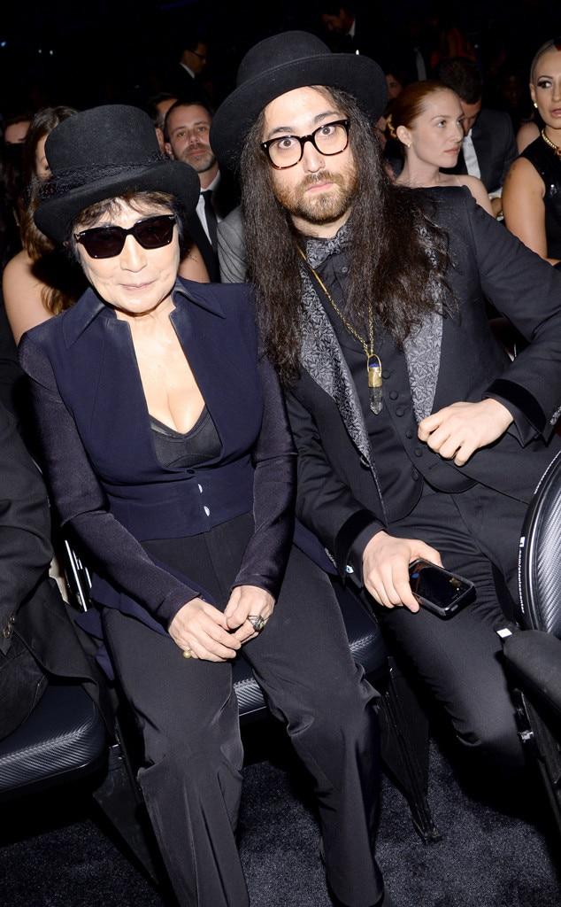 Yoko Ono, Sean Lennon, Grammy's, Candids