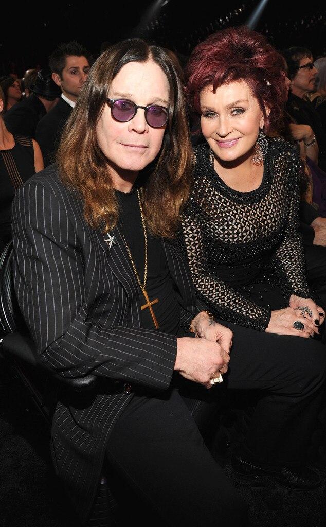 Ozzy Osbourne, Sharon Osbourne, Grammys, Candids