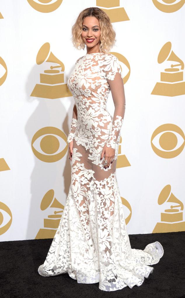 Beyoncé\'s Revealing Grammys Dress: Designer Dishes Exclusive Details ...