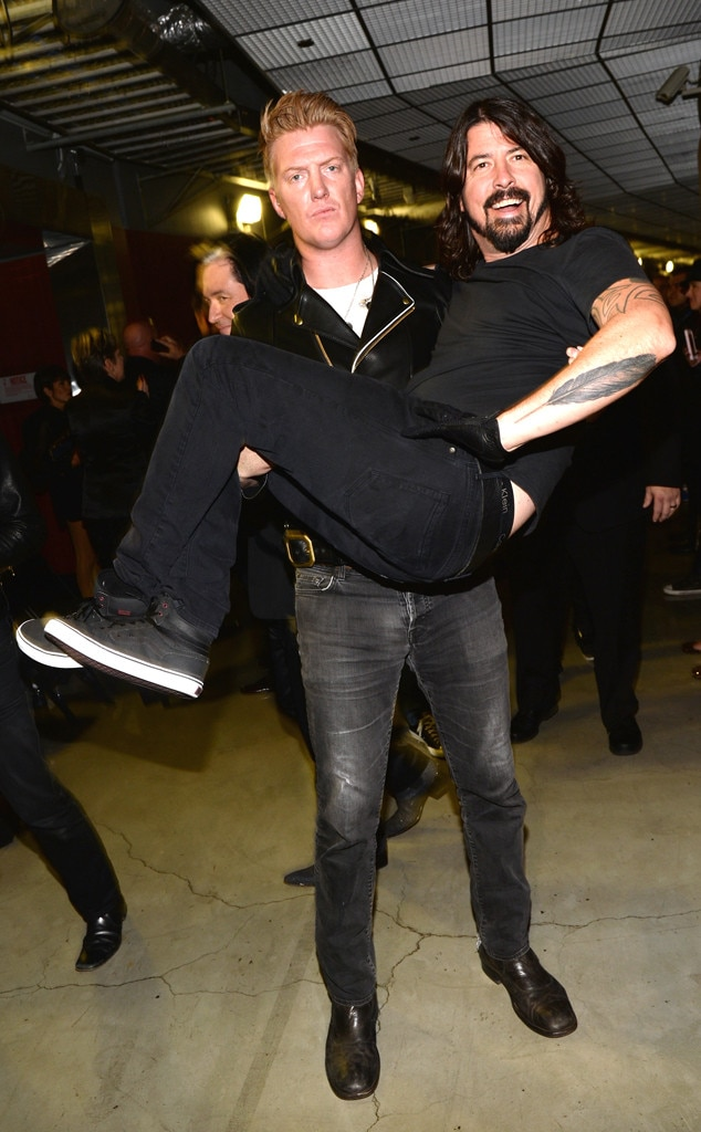 Josh Homme, Dave Grohl, Grammy's, Candids