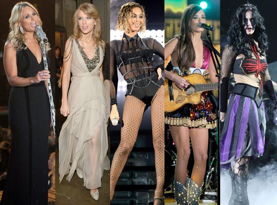 Miranda Lambert, Taylor Swift, Beyonce, Kacey Musgraves, Katy Perry, GRAMMYS 2014