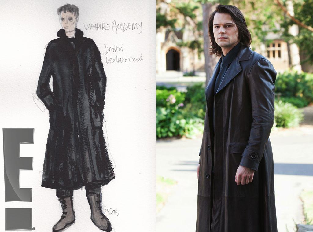 Dimitri's Leather coat, Exclusive Vampire Academy Costume