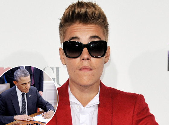 Justin Bieber, Petition, Barack Obama