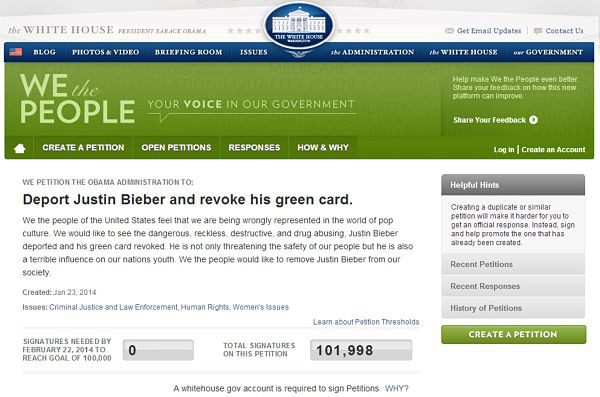 Deport Justin Bieber and revoke his green card