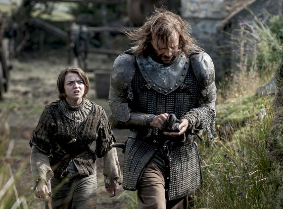 Maisie Williams, Rory McCann, Game of Thrones