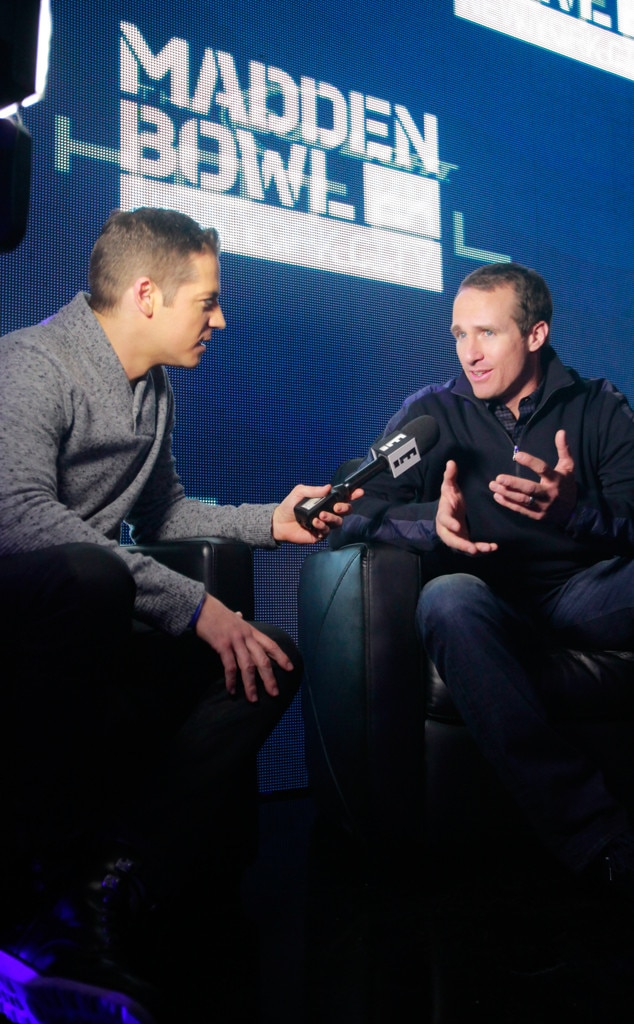 Jason Kennedy, Drew Brees, Madden Bowl XX at the Bud Light Hotel