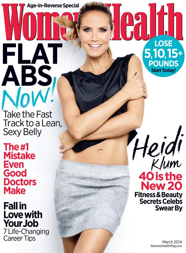 Heidi Klum, Women's Health, March Cover