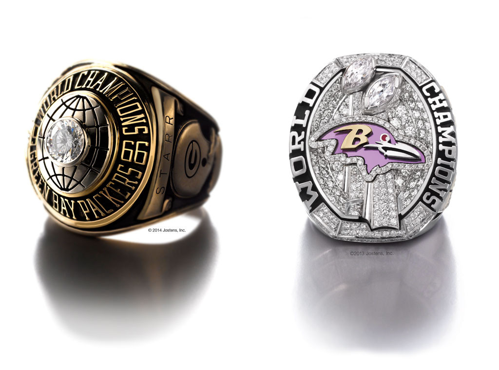 Super Bowl Rings, Ravens, Packers