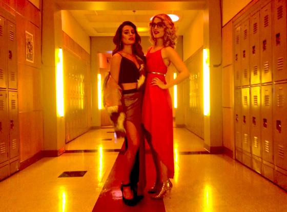 Lea Michele, Dianna Agron, Glee