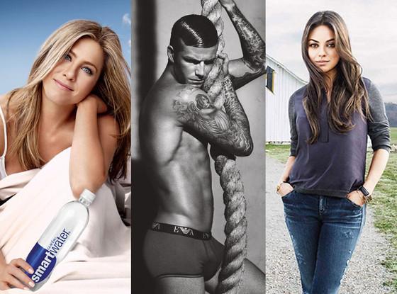 Jennifer Aniston, David Beckham, Mila Kunis