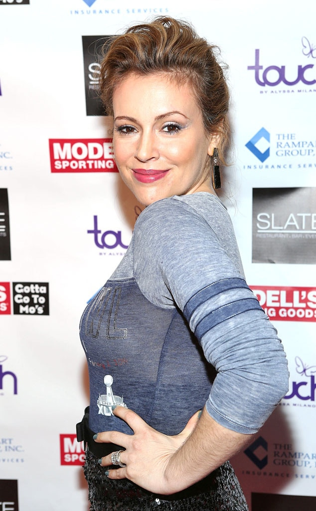 Alyssa Milano, Super Bowl Party