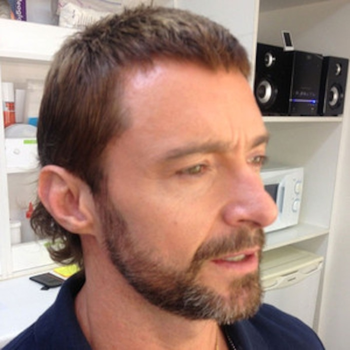 Hugh Jackman Shows Off New Mullet Hairdosee The Pic E News