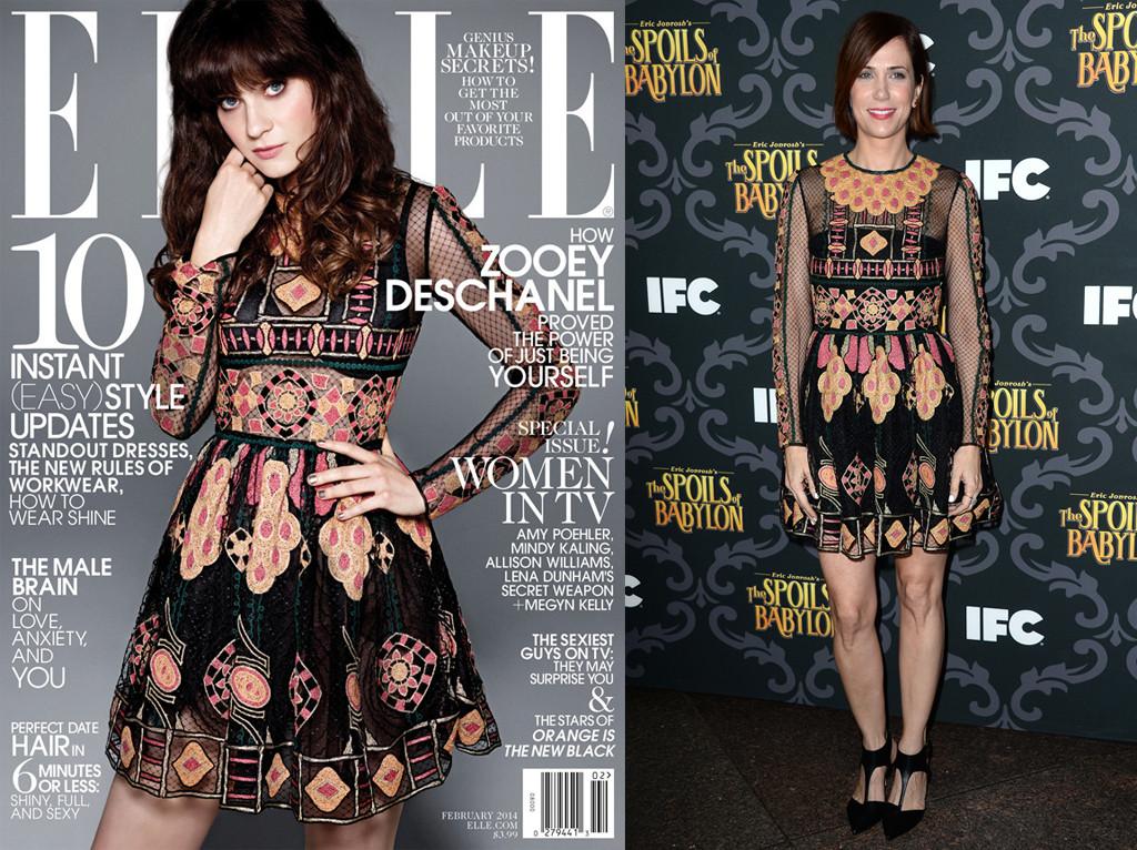 Kristen Wiig, Zooey Deschanel, Elle Magazine