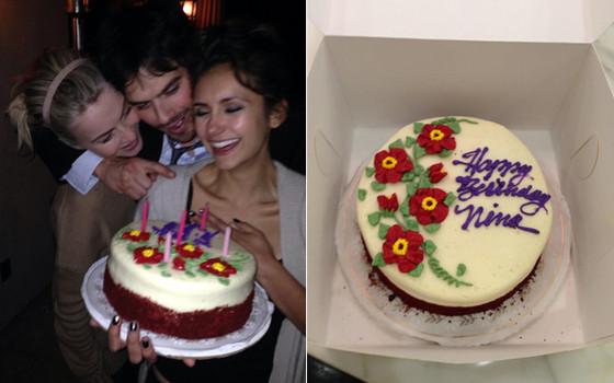 Nina Dobrev comemora aniversário com Ian Somerhalder