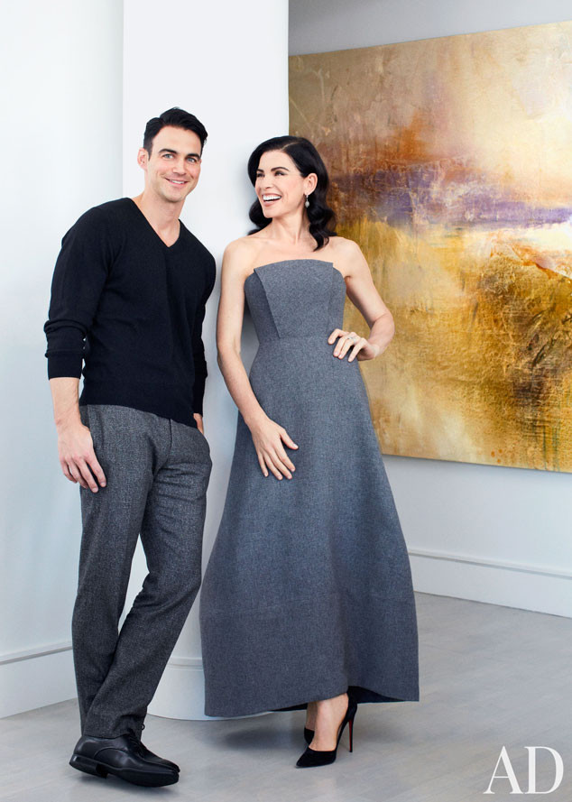 Julianna Margulies, eith Lieberthal, Architectural Digest