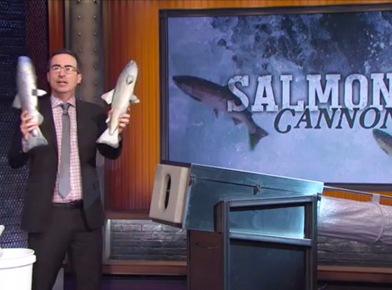 Salmon Cannon, Tom Hanks, John Oliver