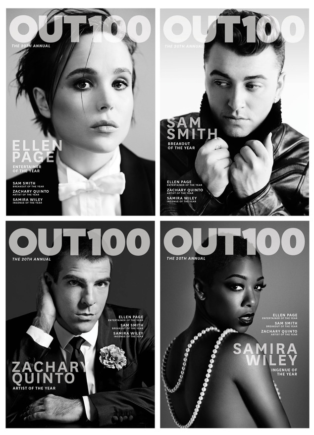 Ellen Page, Zachary Quinto, Sam Smith, Samira Wiley, Out Magazine