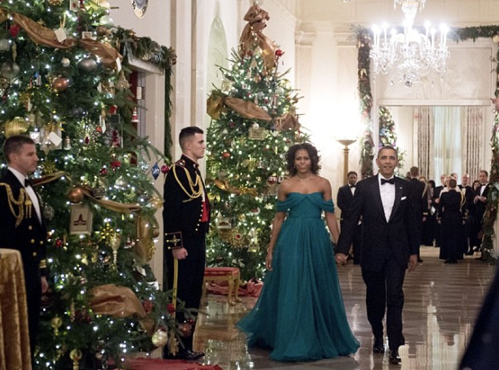 Barack Amp Michelle Obama From Holiday Decorating With The
