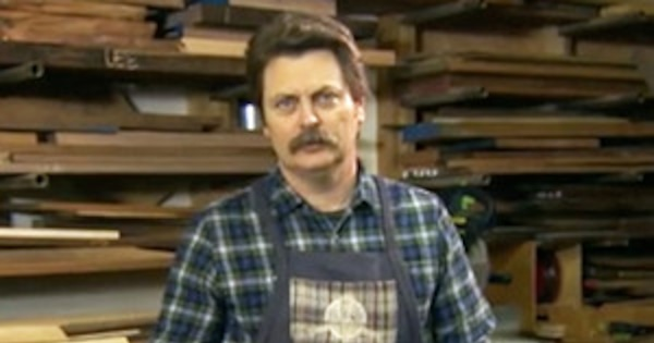 Nick Offerman Wants To Show You His Wood Emojiswatch The Conan Mock